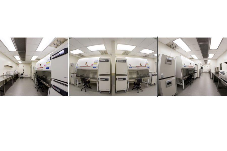 Photo collage of GMP Lab